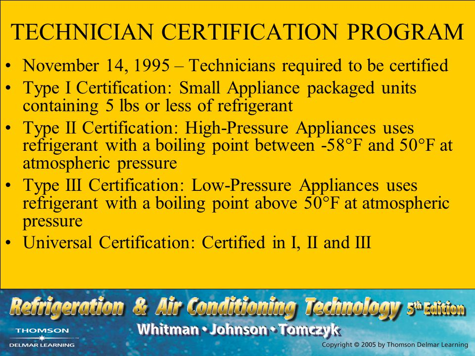 TECHNICIAN CERTIFICATION PROGRAM