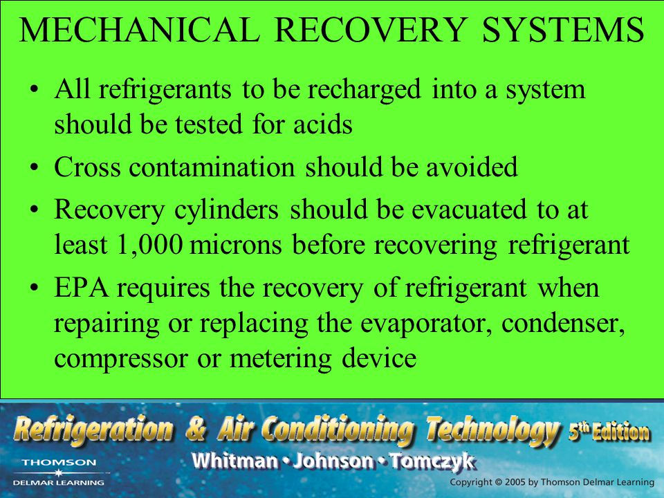 MECHANICAL RECOVERY SYSTEMS