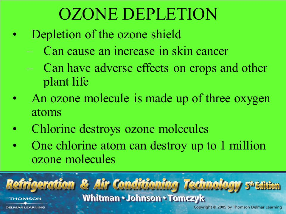OZONE DEPLETION Depletion of the ozone shield