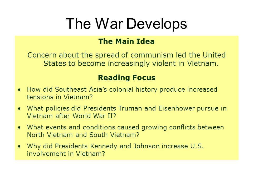 The War Develops The Main Idea