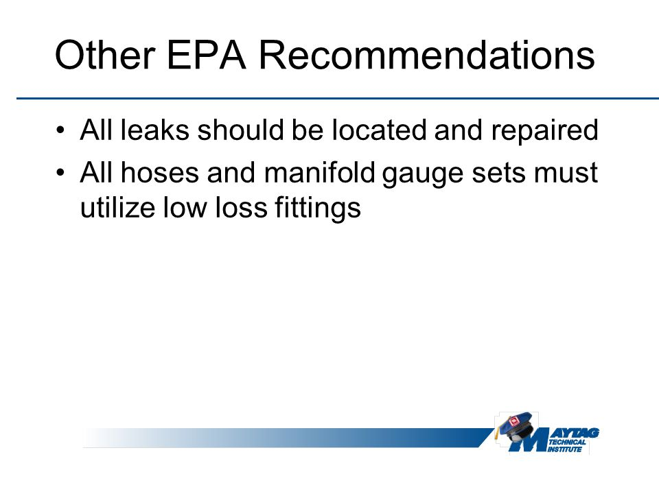 Other EPA Recommendations