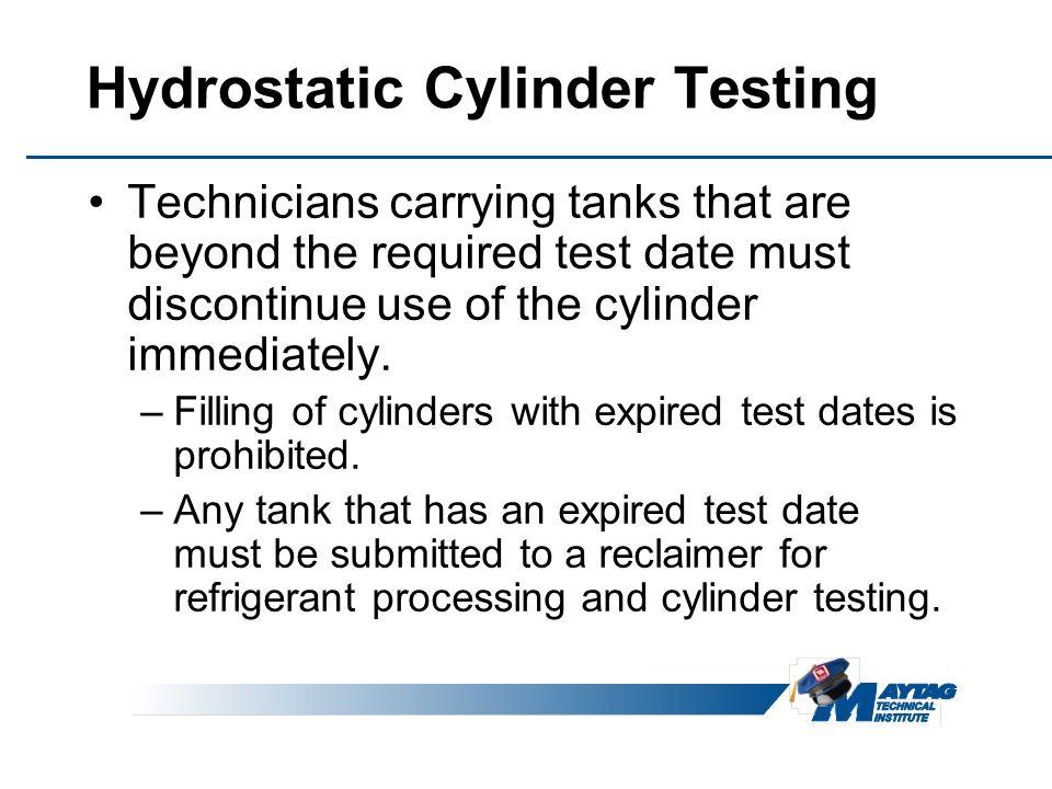 Hydrostatic Cylinder Testing