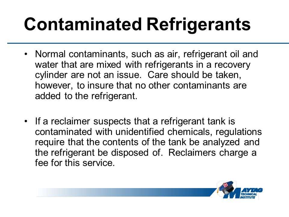 Contaminated Refrigerants