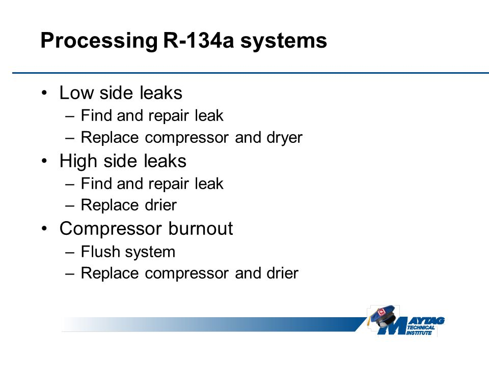 Processing R-134a systems