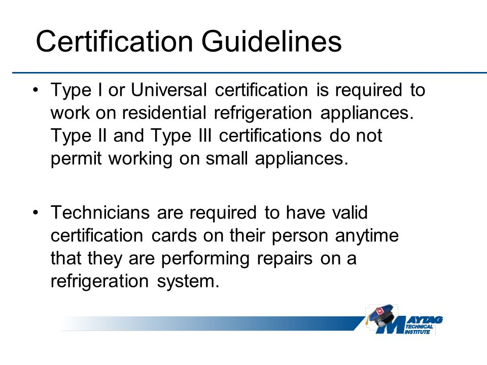 Universal Refrigeration Certification 28 Images Refrigeration