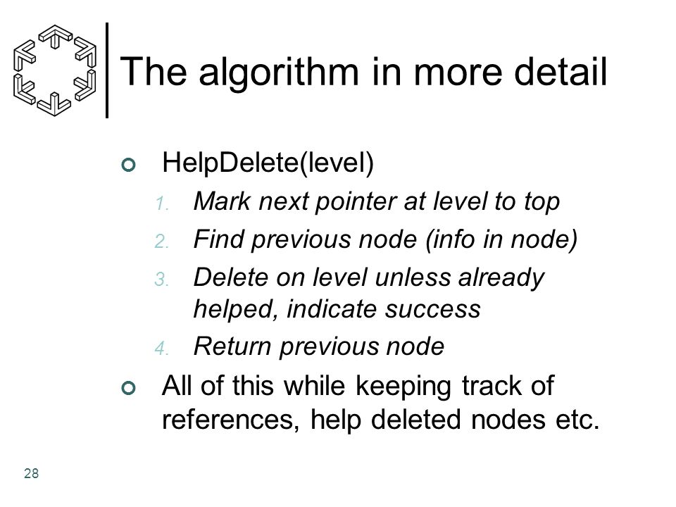 The algorithm in more detail