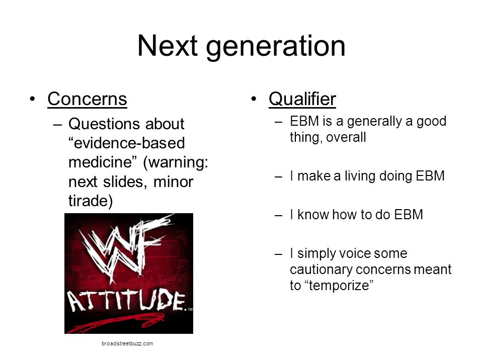 Next generation Concerns Qualifier