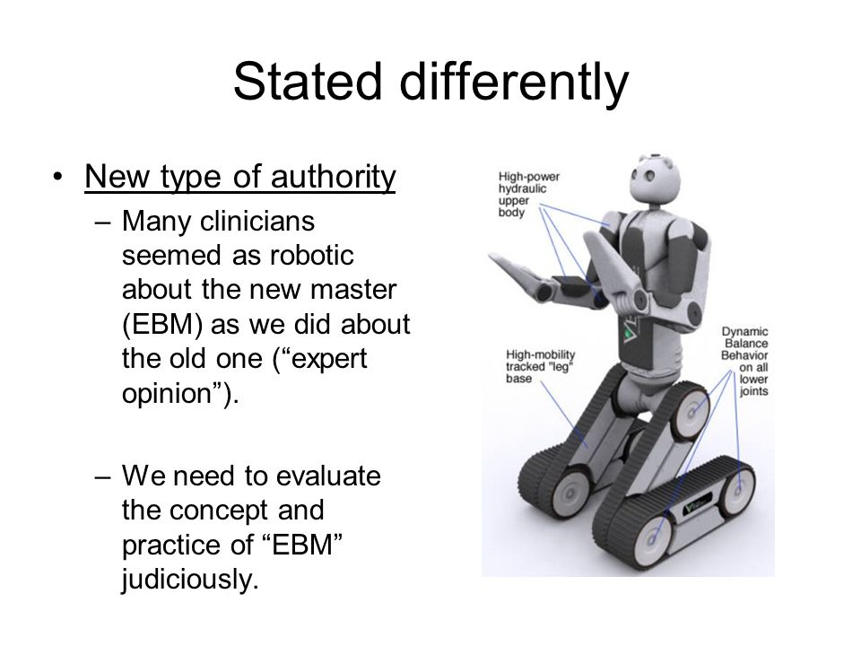 Stated differently New type of authority