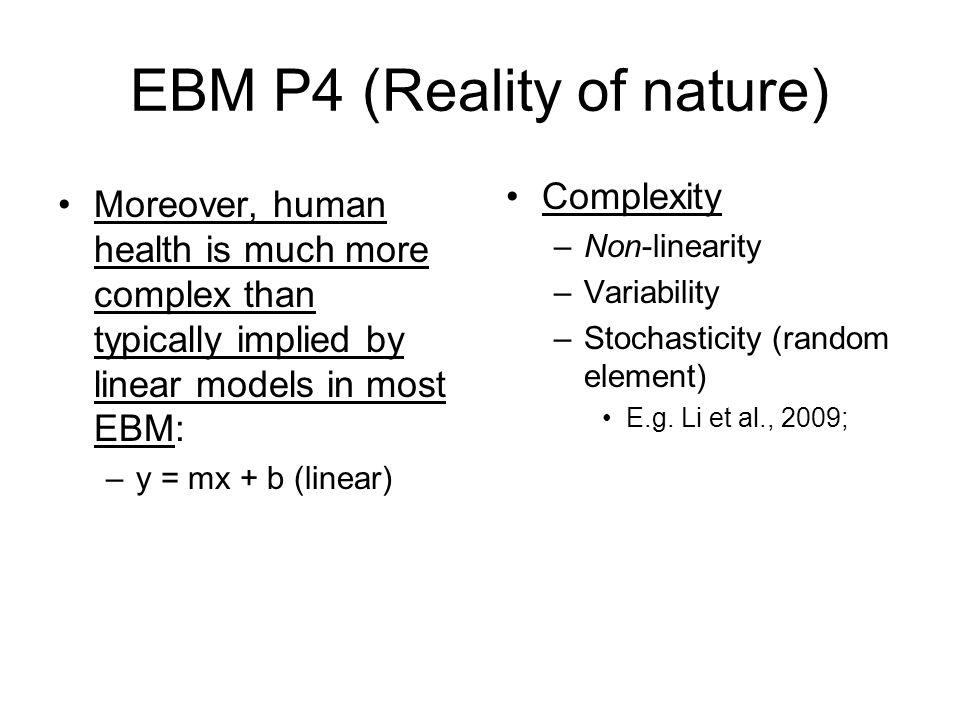 EBM P4 (Reality of nature)