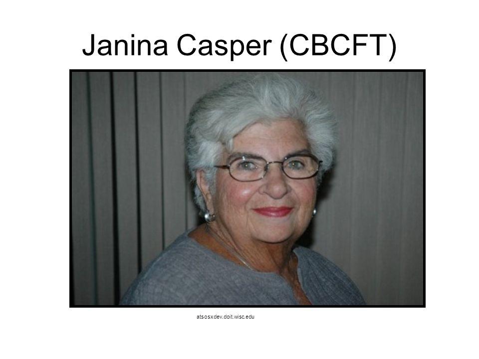 Janina Casper (CBCFT) atsosxdev.doit.wisc.edu