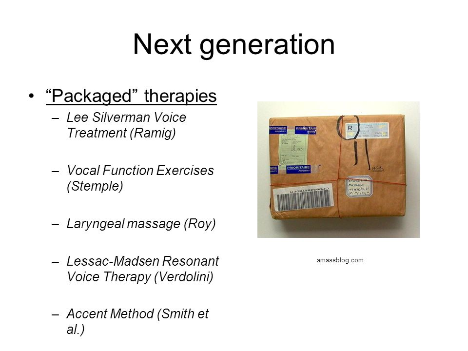 Next generation Packaged therapies