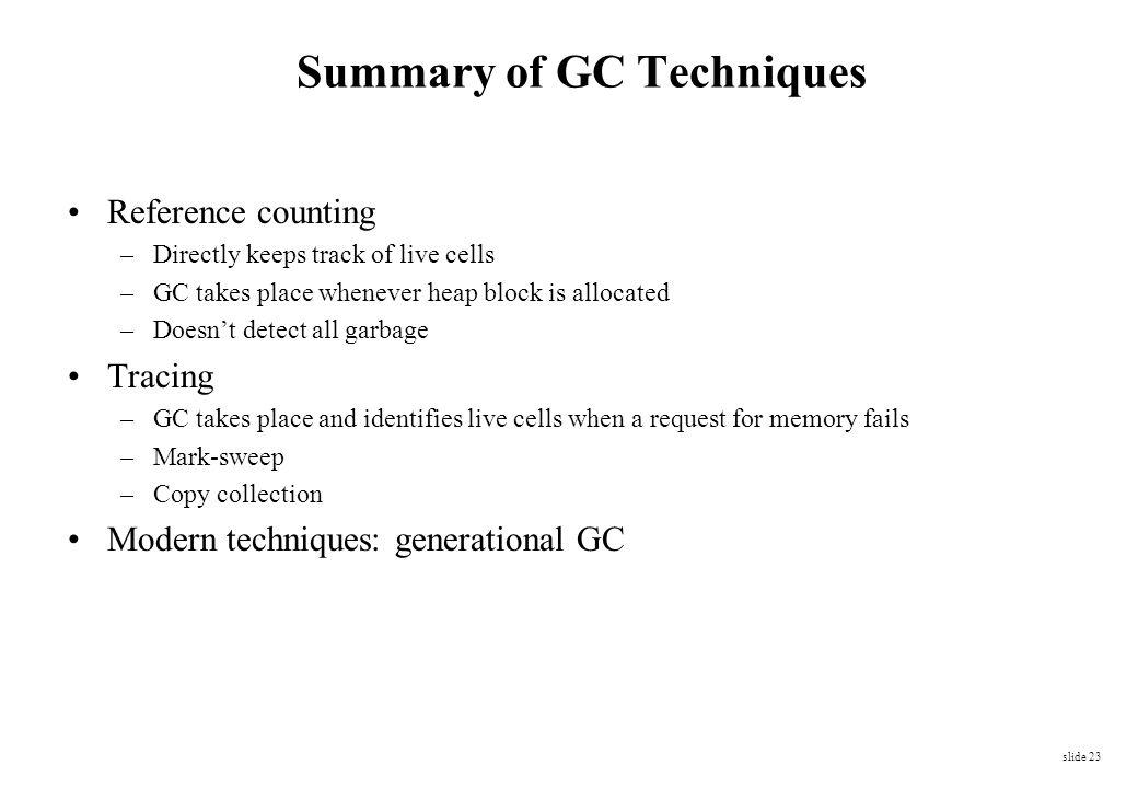 Summary of GC Techniques
