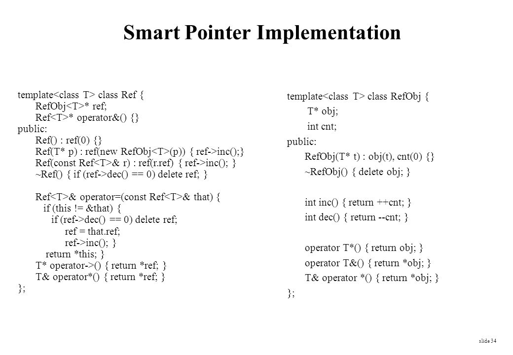 Smart Pointer Implementation