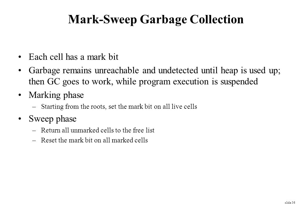 Mark-Sweep Garbage Collection
