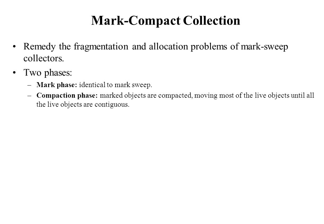 Mark-Compact Collection