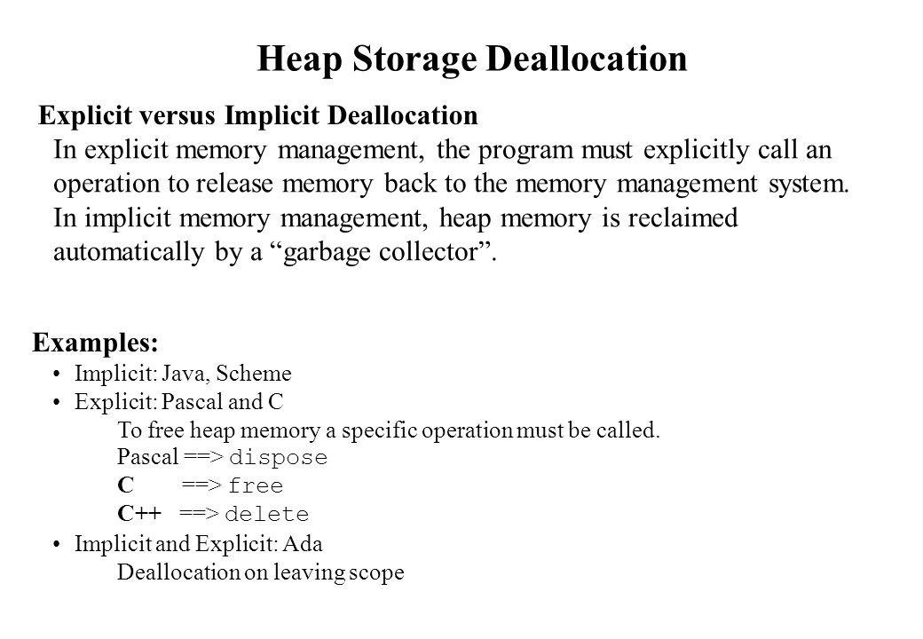 Heap Storage Deallocation