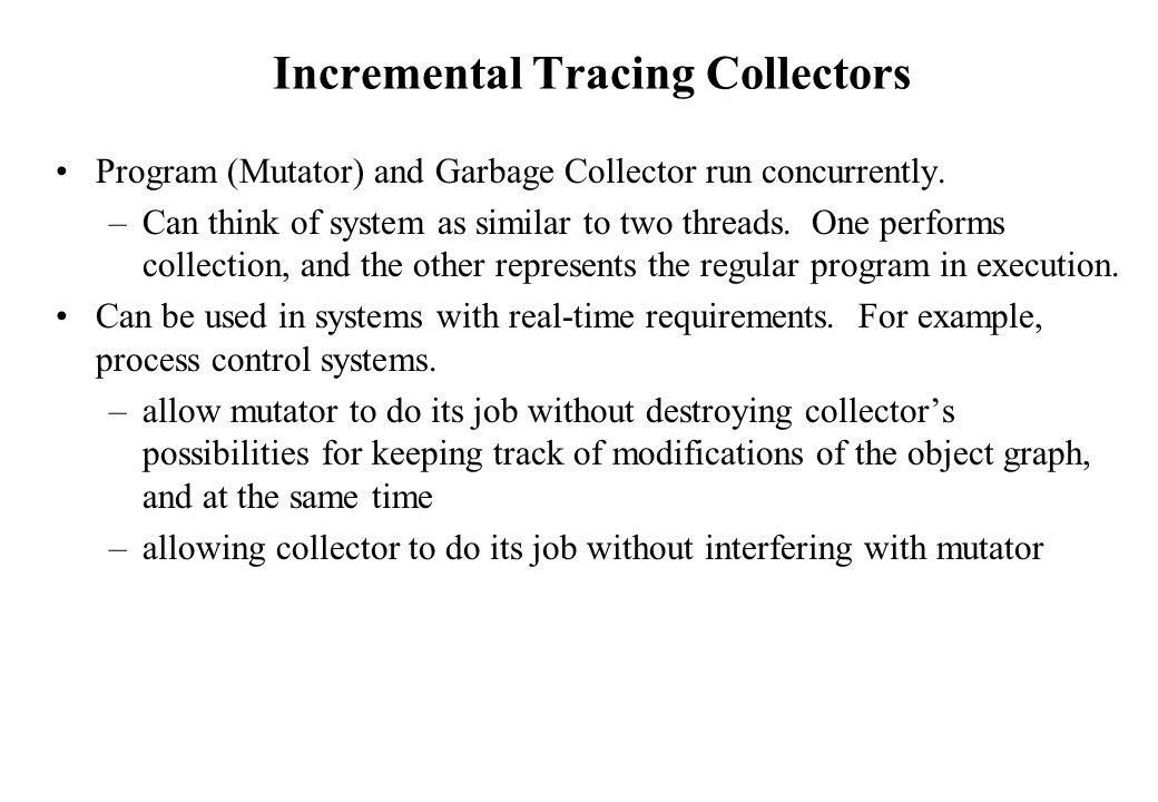 Incremental Tracing Collectors