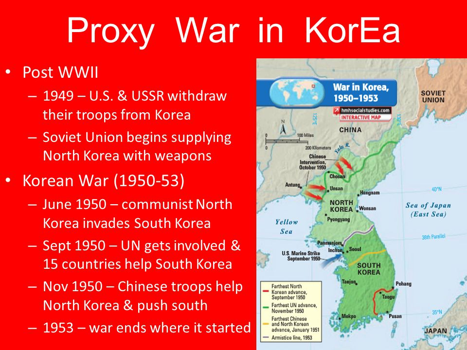 Proxy War in KorEa Post WWII Korean War (1950-53)