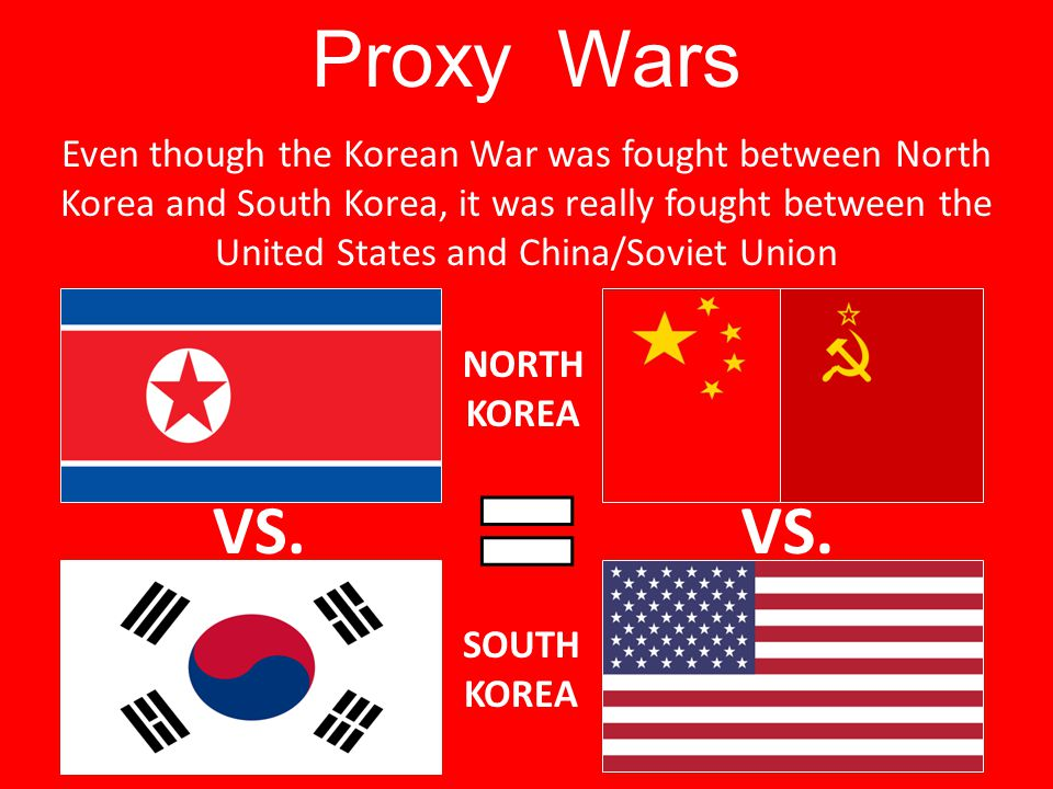 korean war a proxy war Playlist notetaker: the cold war in korean and vietnam  objective 1 describe  the us cold war policy of containment and the use of proxy wars.