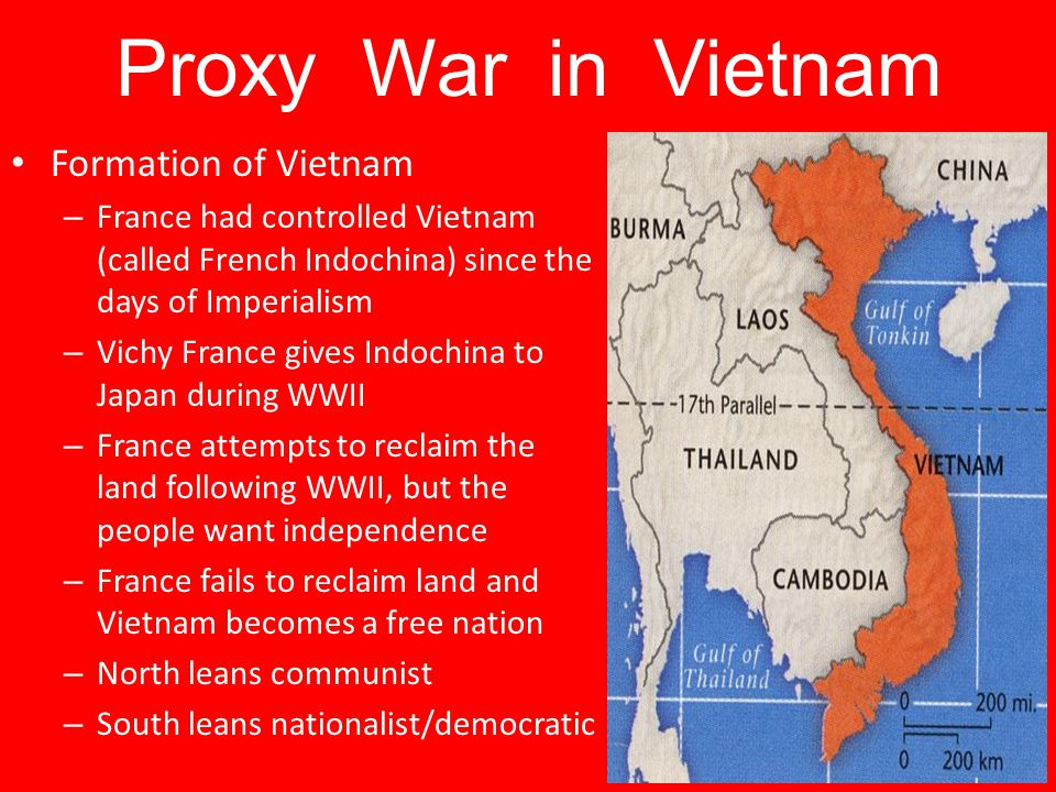 Proxy War in Vietnam Formation of Vietnam