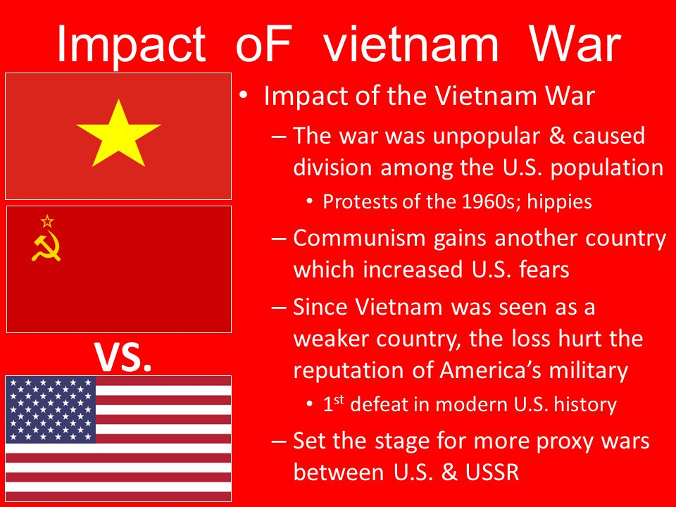 the impact of vietnam war on Vietnam war: the impact remains the vietnam war ended decades ago, but its impact on the vietnamese people still remains the heavy bombing mission, the chemical warfare, and the mark of war on veterans still have strong effect on vietnamese citizens.