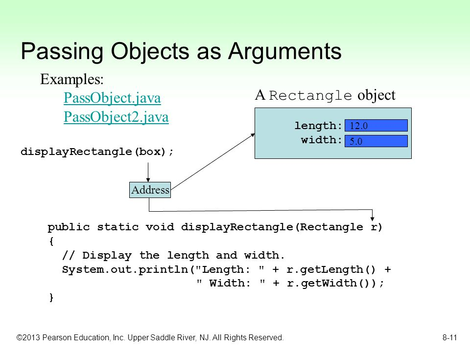 Passing Objects as Arguments