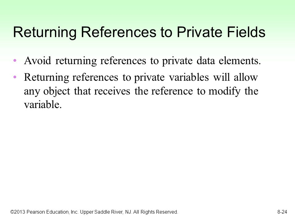 Returning References to Private Fields