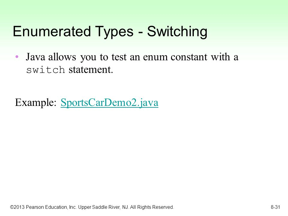 Enumerated Types - Switching