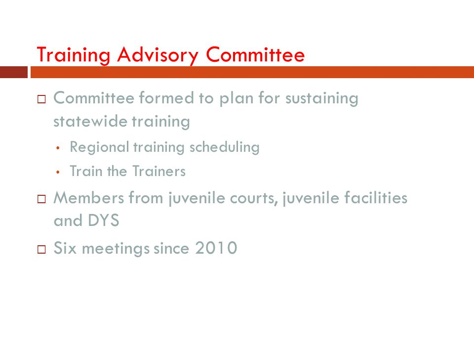 Training Advisory Committee