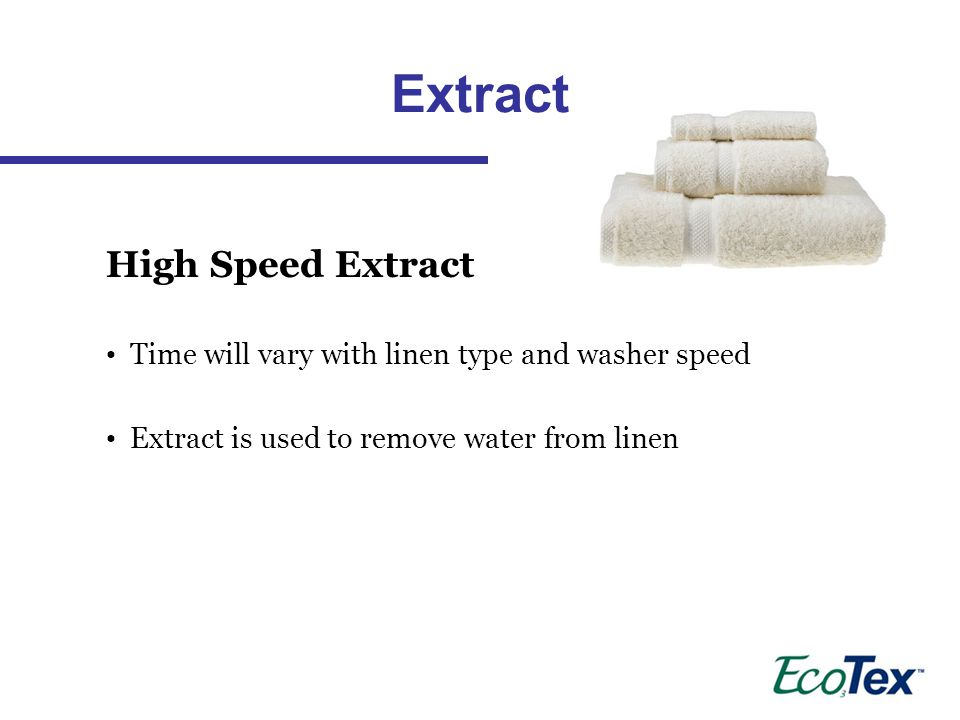 Extract High Speed Extract
