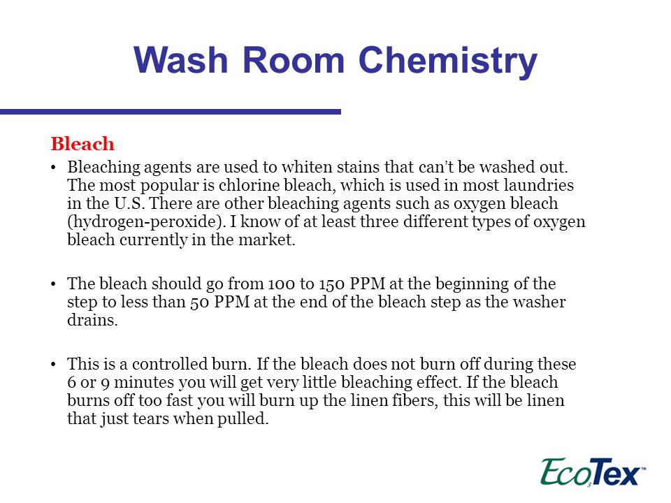Wash Room Chemistry Bleach