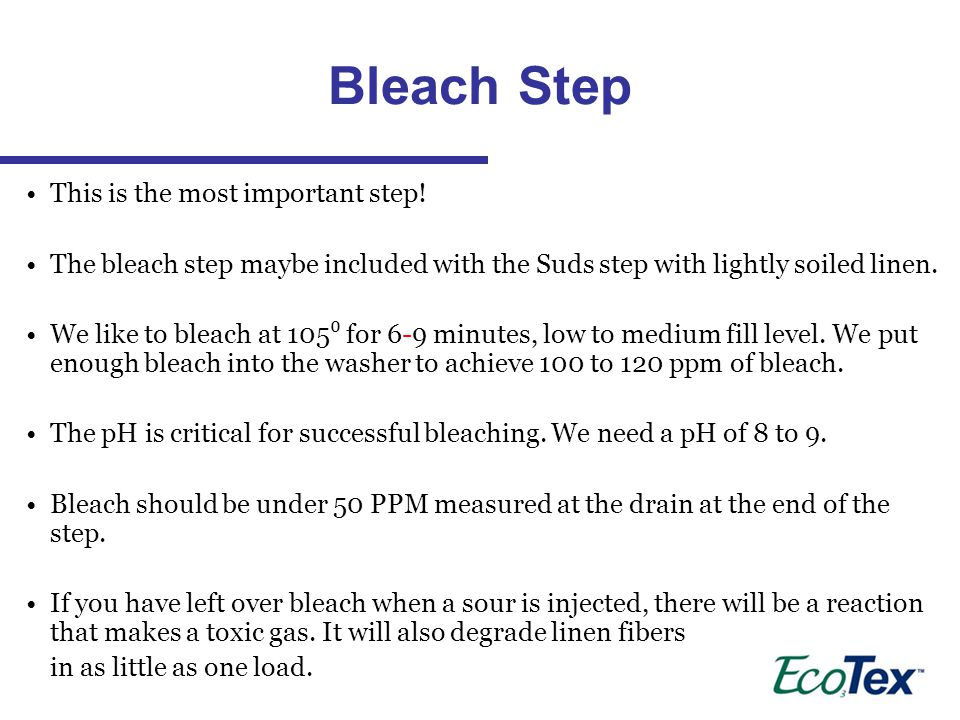 Bleach Step This is the most important step!