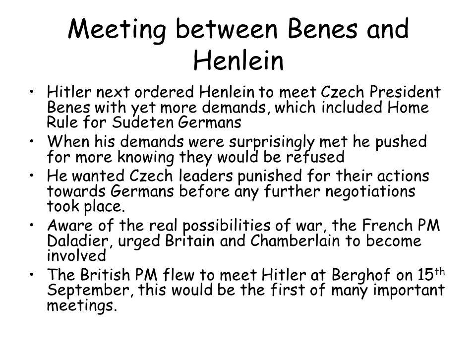 Meeting between Benes and Henlein