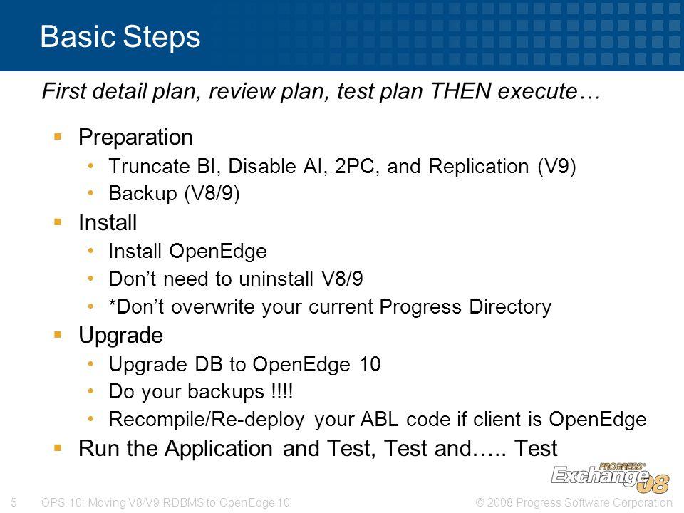 First detail plan, review plan, test plan THEN execute…