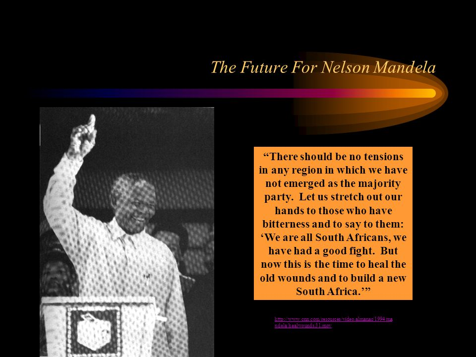 The Future For Nelson Mandela