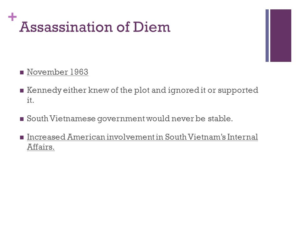 Assassination of Diem November 1963