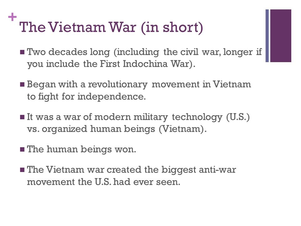 The Vietnam War (in short)