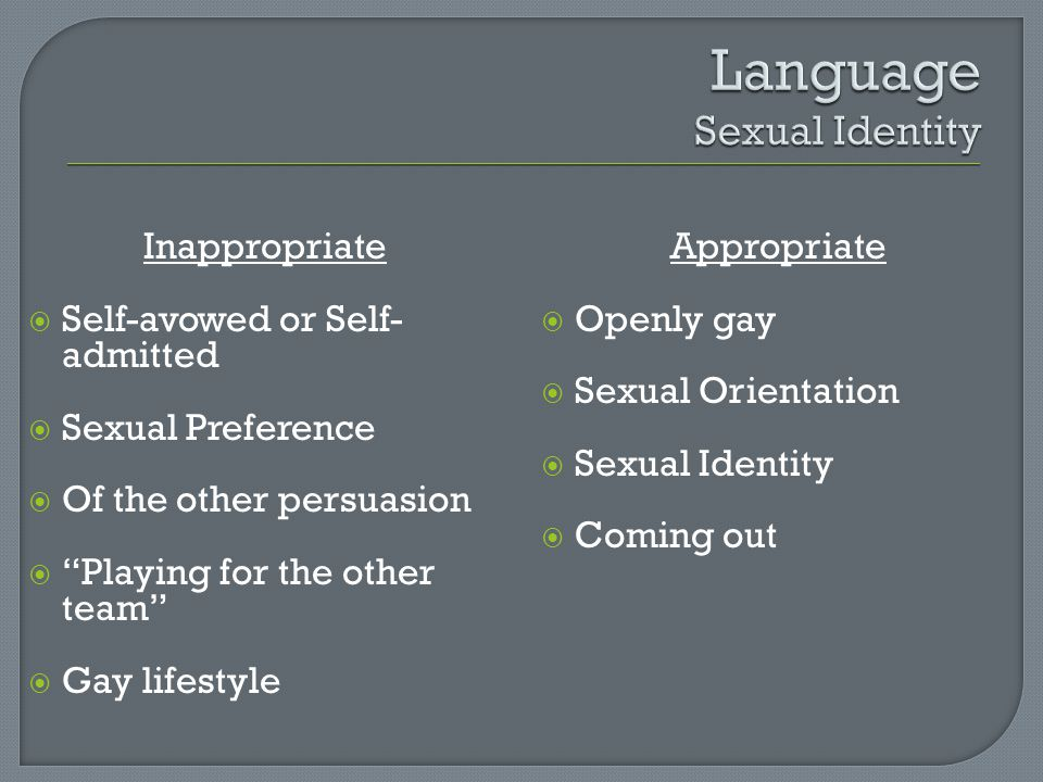 Language Sexual Identity