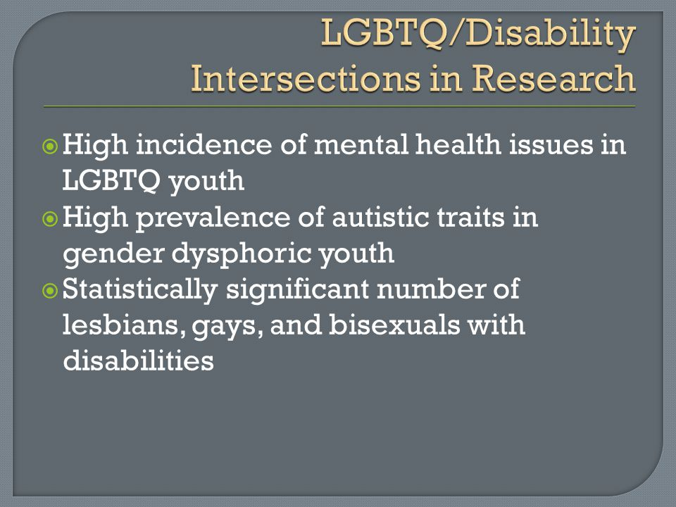 LGBTQ/Disability Intersections in Research