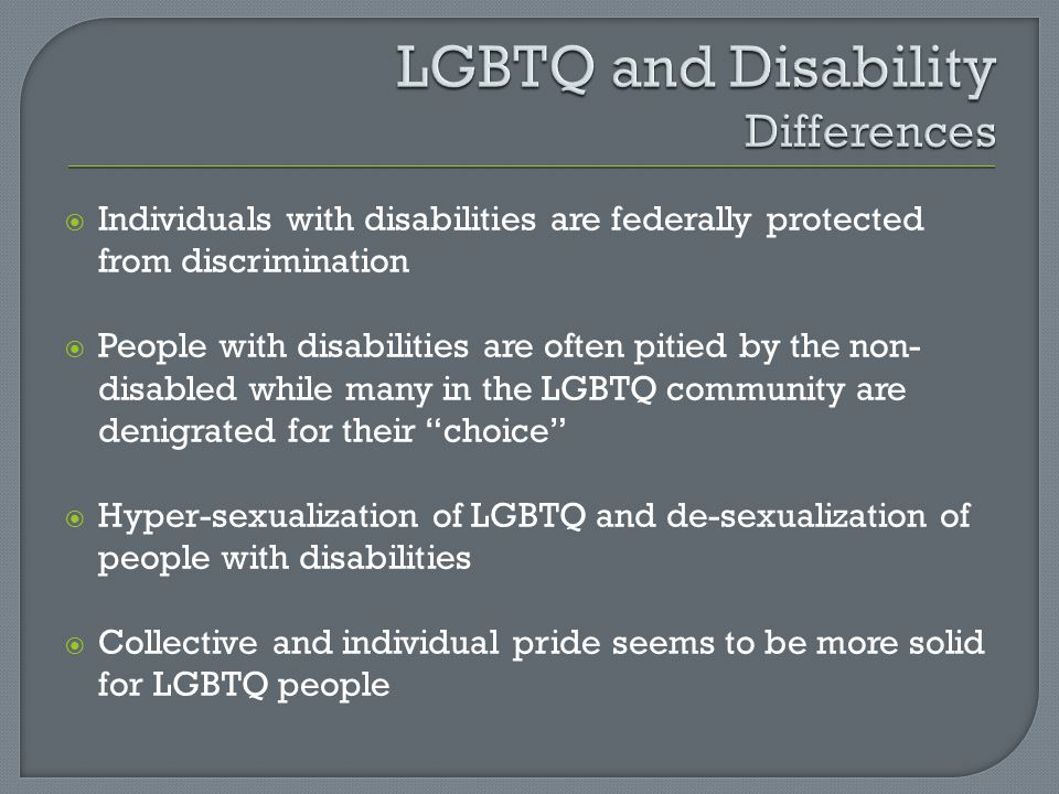 LGBTQ and Disability Differences