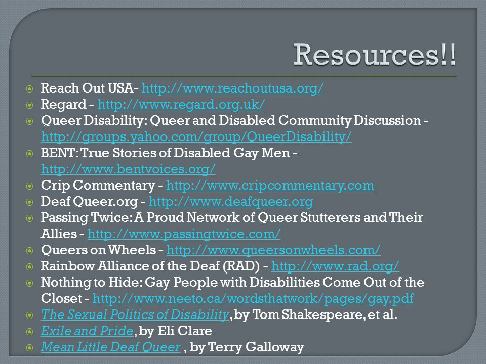 Resources!! Reach Out USA- http://www.reachoutusa.org/