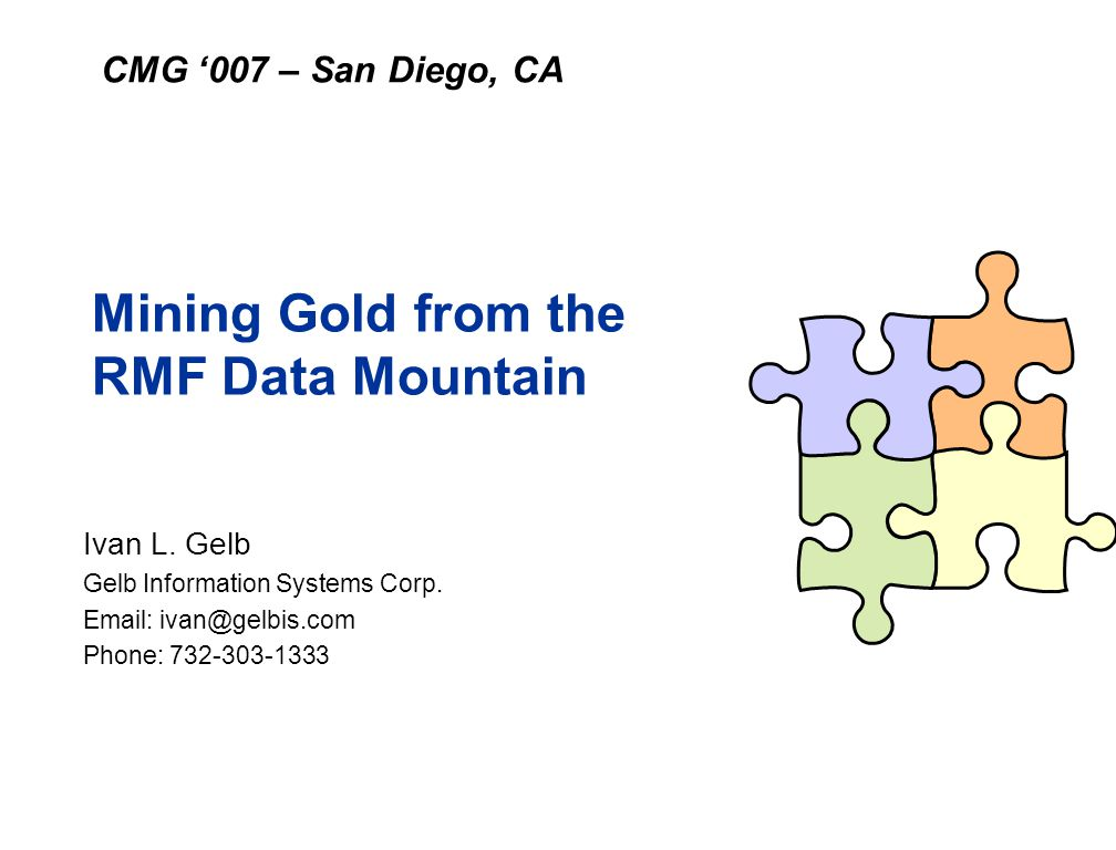 Mining Gold from the RMF Data Mountain
