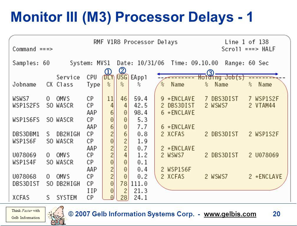Monitor III (M3) Processor Delays - 1