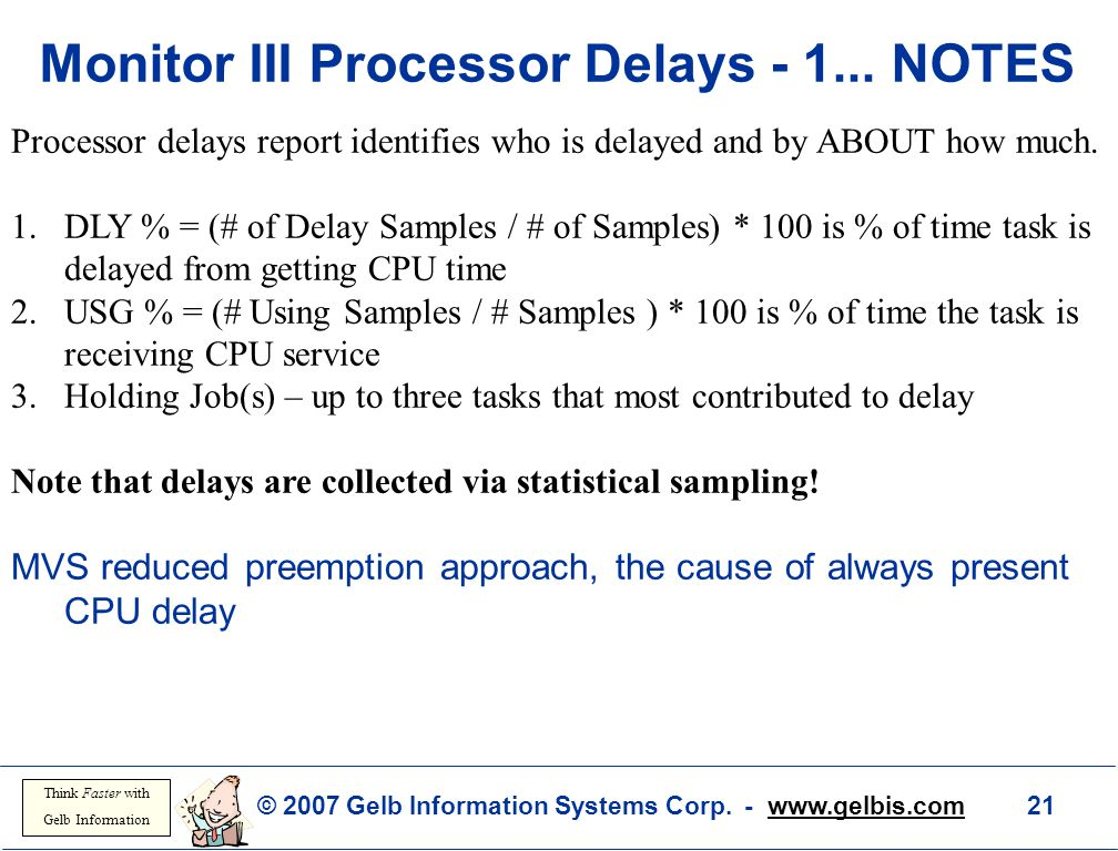Monitor III Processor Delays - 1... NOTES