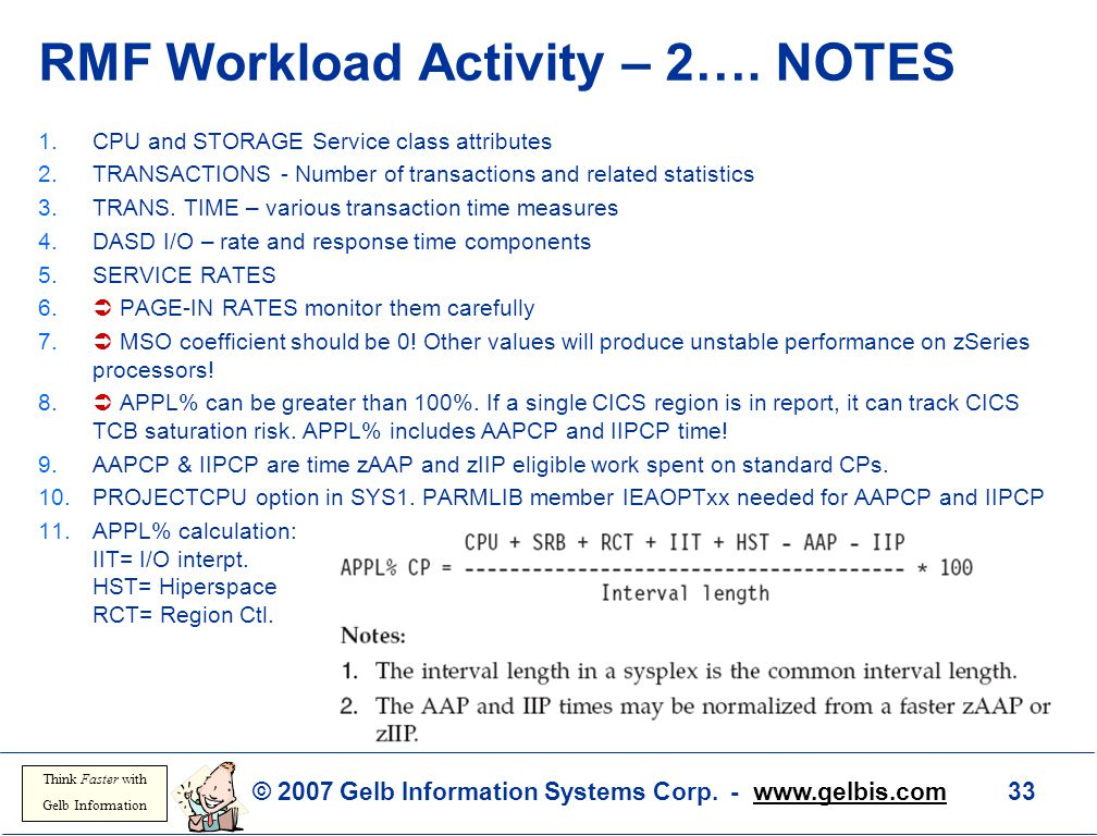 RMF Workload Activity – 2…. NOTES
