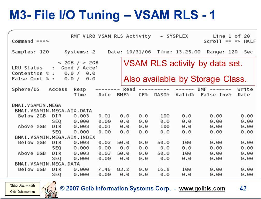 M3- File I/O Tuning – VSAM RLS - 1