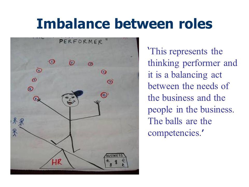Imbalance between roles