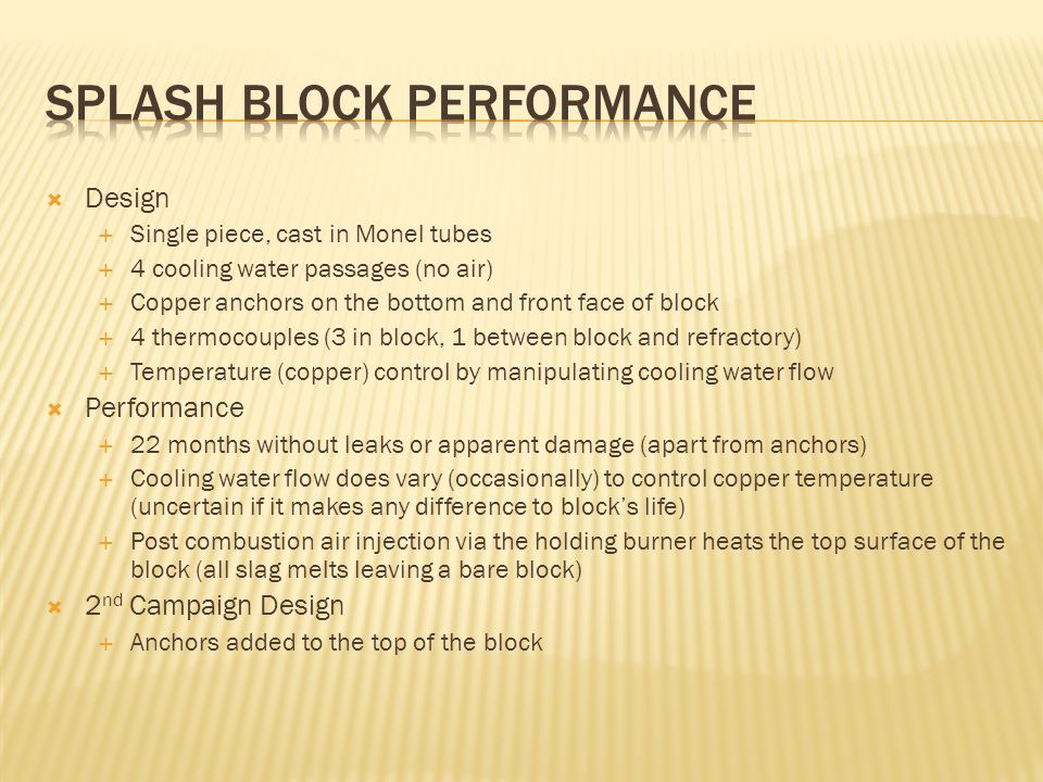 Splash Block performance