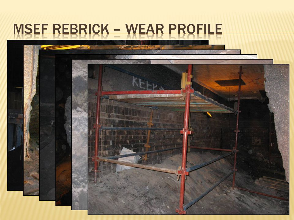 MSEF Rebrick – Wear profile