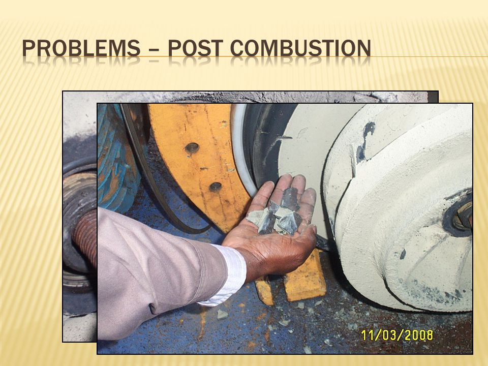 Problems – Post Combustion